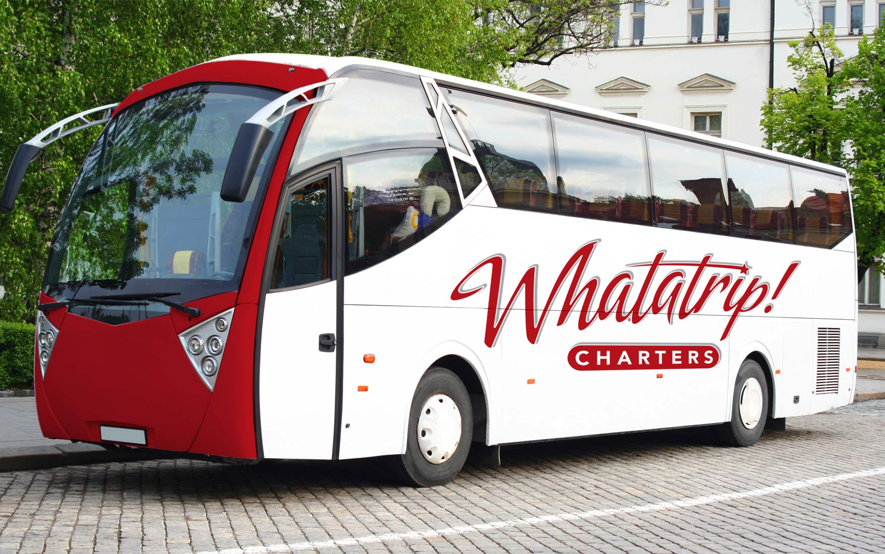 WhataTrip charter vehicle wrap
