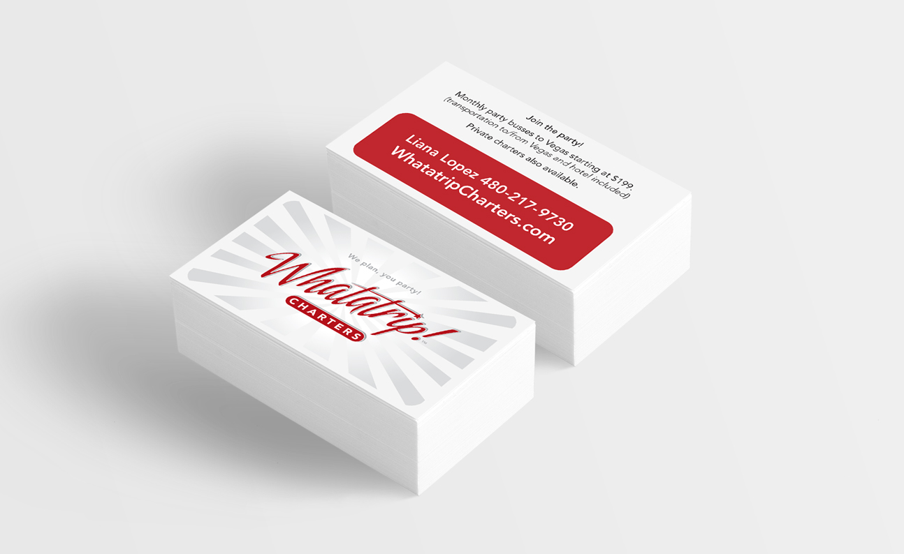 WhataTrip - Business Card Design