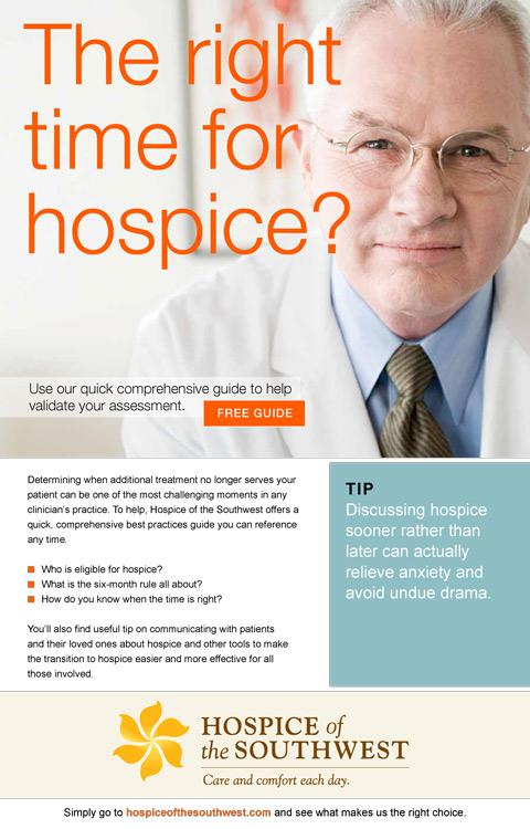 Community Hospice Group Brochures Rain Visual Strategy