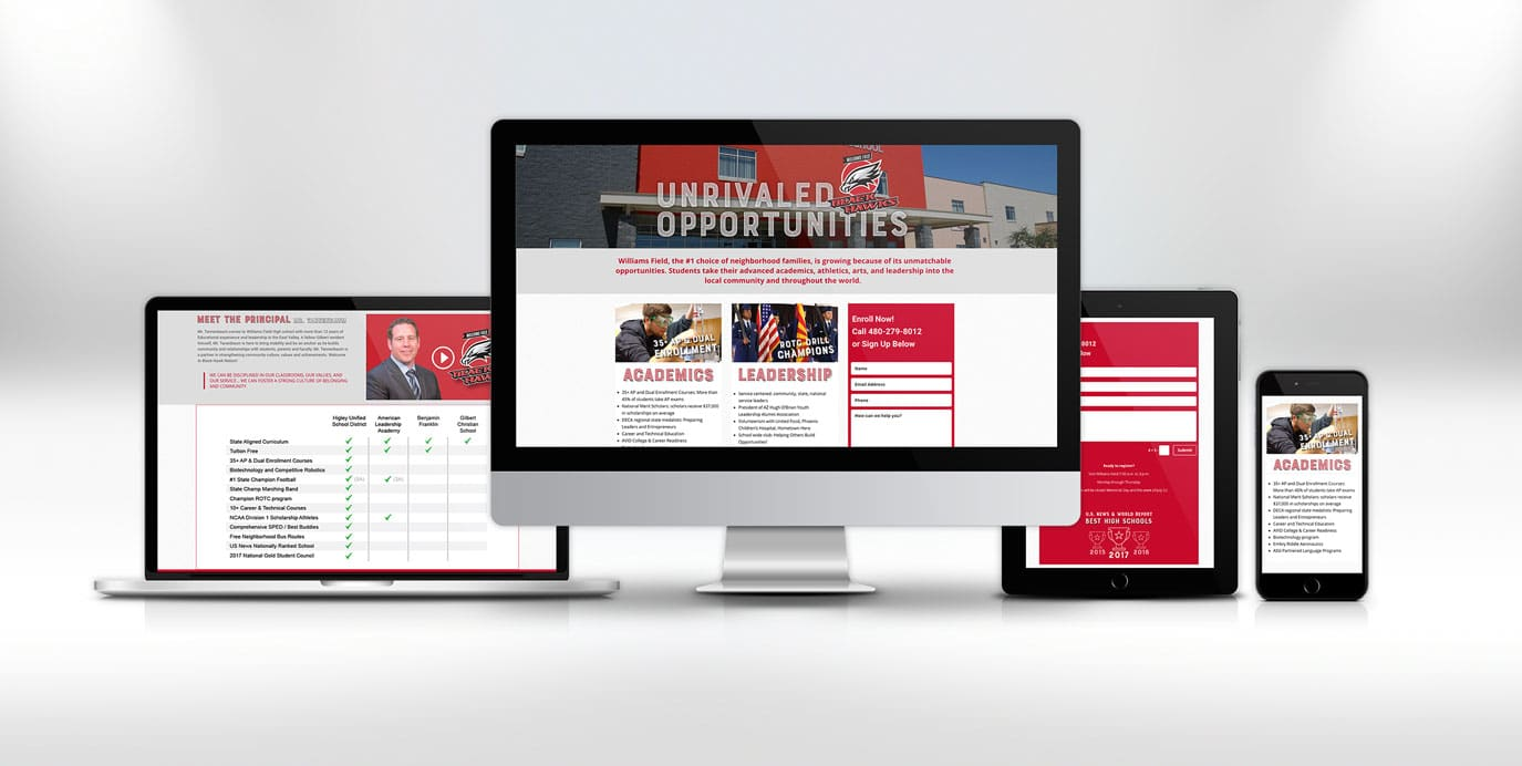 Williams Field Landing Page